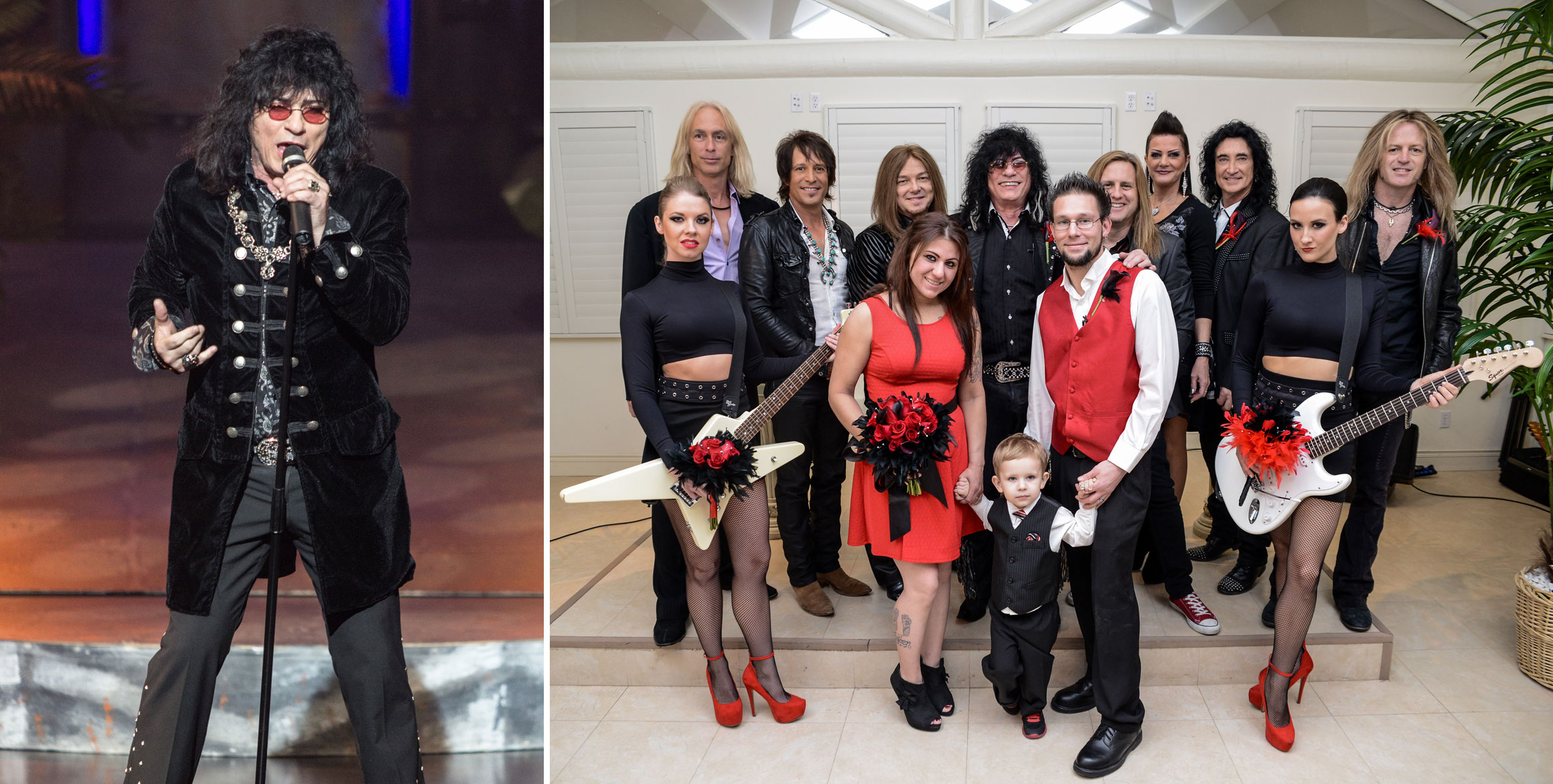 "Paul Shortino (left), lead vocalist of ""Raiding the Rock Vault"" at the Tropicana Las Vegas, performs weddings when he's not onstage. Photo courtesy of Tropicana Las Vegas."