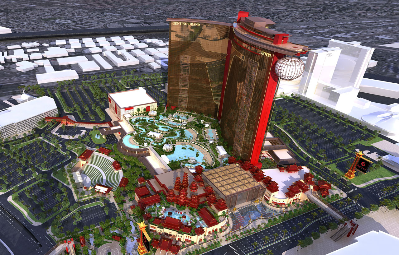 A rendering of Resorts World Las Vegas, image courtesy of Steelman Partners