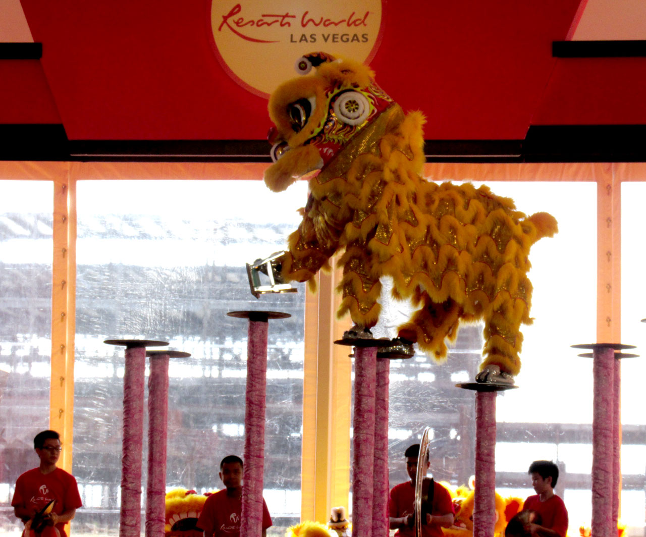 Traditional drummers and lion dancers enlivened the groundbreaking festivities