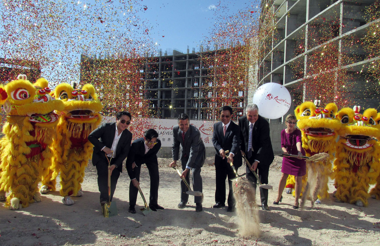 A host of dignitaries break ground for Resorts World Las Vegas