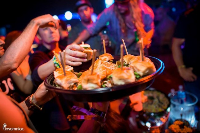 This food is from the VIP area. But even if you're not a VIP you can find some good grub. Photo courtesy of Insomniac.