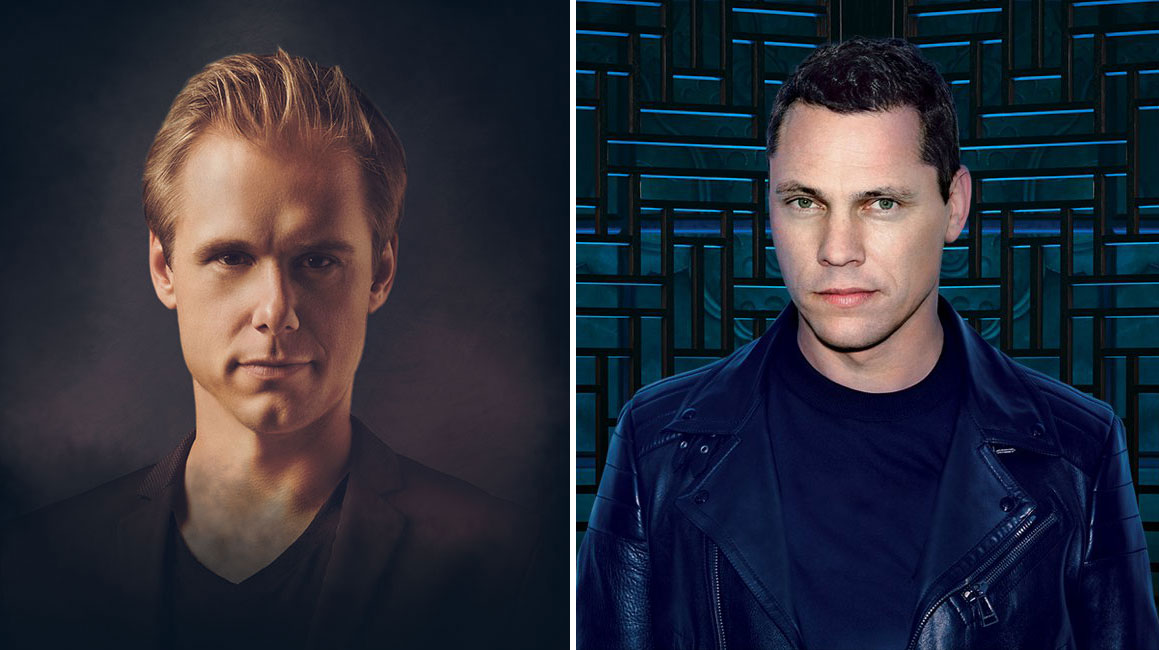 DJs Armin Van Buuren (left) and Tiësto are spinning in Sin City