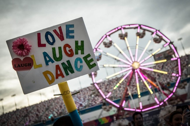You can bring signs. You cannot bring your own Ferris wheels. Photo courtesy of Insomniac.
