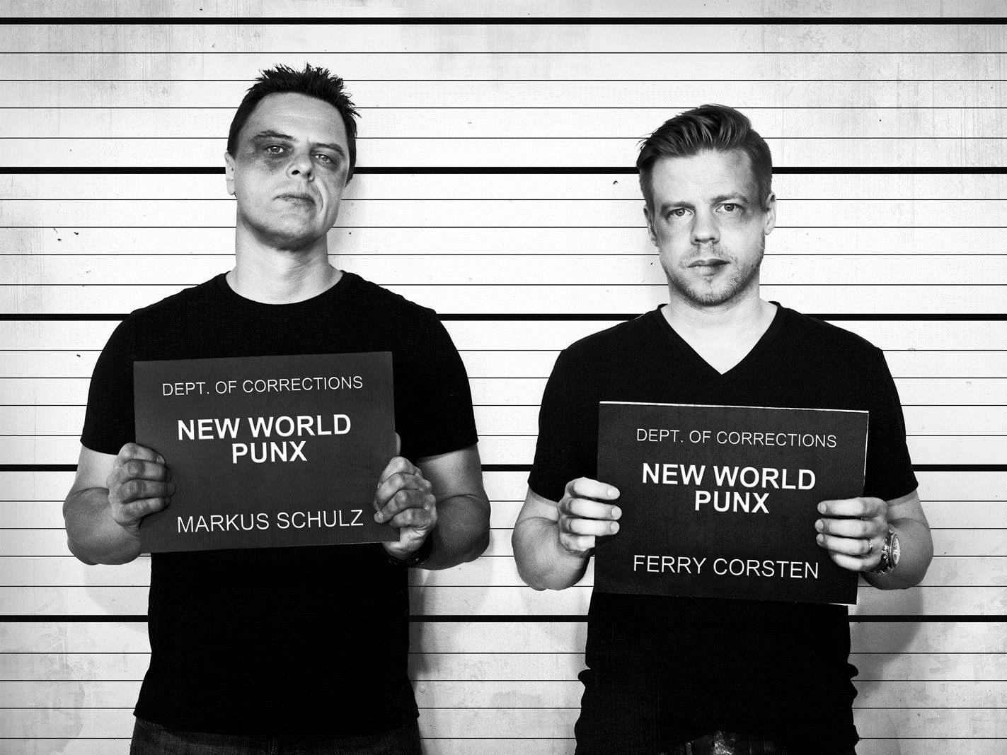 New World Punx. We assure you they did not receive those black eyes in Vegas. Photo courtesy of Foxtail Pool Club and New World Punx.