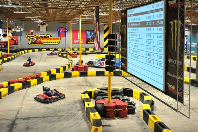 Can Mom corner a grocery kart like Kyle Busch? Take her to Pole Position