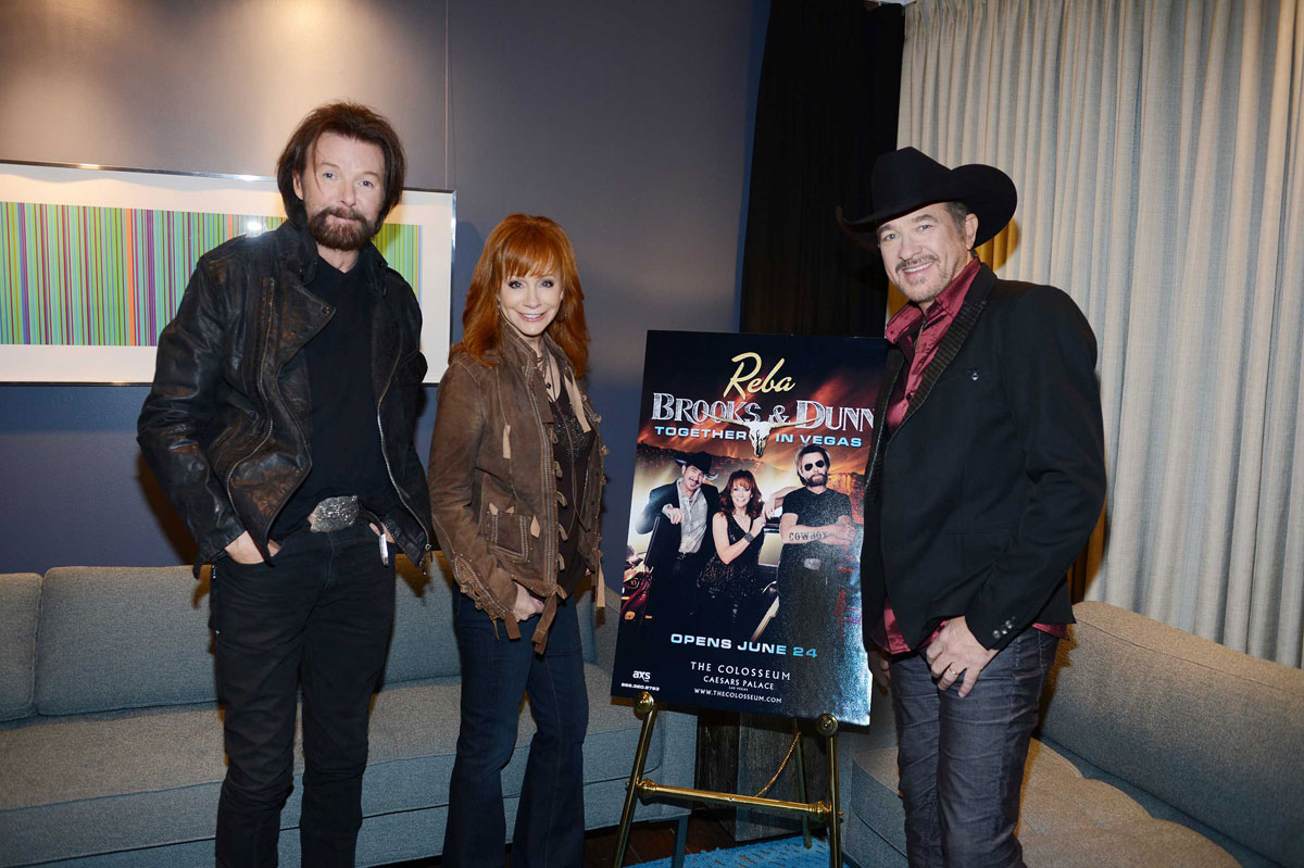 "Kix Brooks, Reba McEntire and Ronnie Dunn have reunited for ""Together in Vegas"" at The Colosseum"