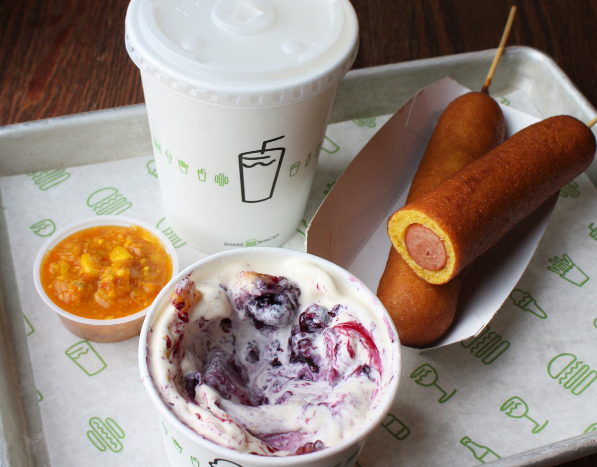 Corn dogs and Blueberry Pie oh My Concretes...You know you want a bite..