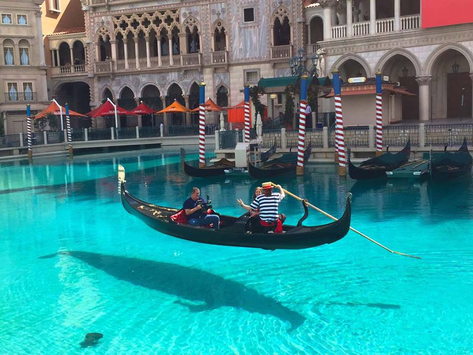 Float across the canals of The Venetian. Photo by Vegas.com.