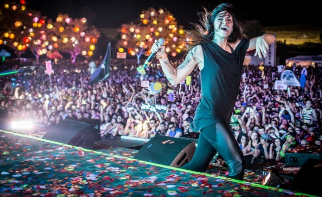 Krewella performs at Beyond Bay 2014.