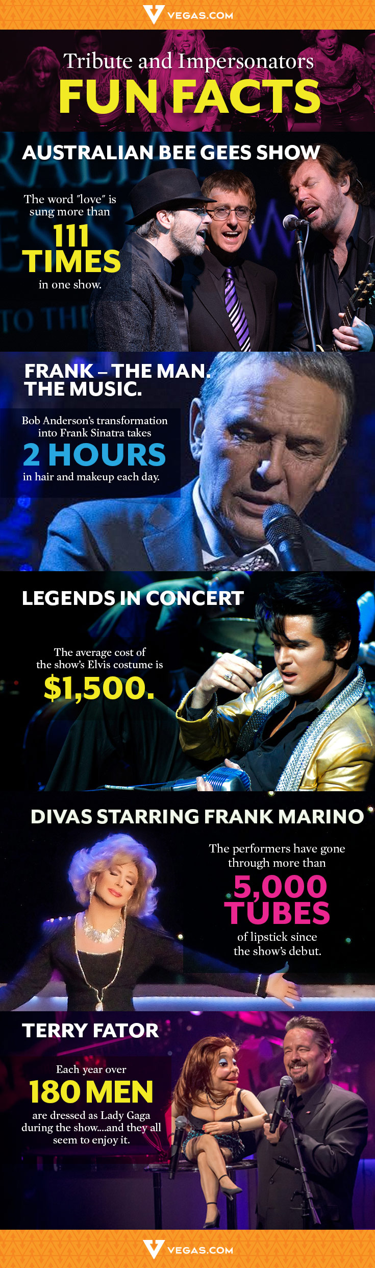Paying our tribute to vegas 39 tribute shows with some facts for Amazing facts about las vegas