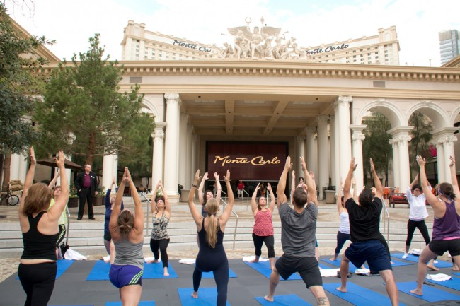 Sun Salutations Strip-side. Say that three times fast. Photo courtesy of MGM Resorts International