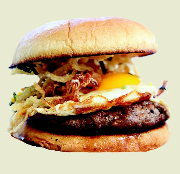 Tamago burger, photo courtesy of Las Vegas Weekly