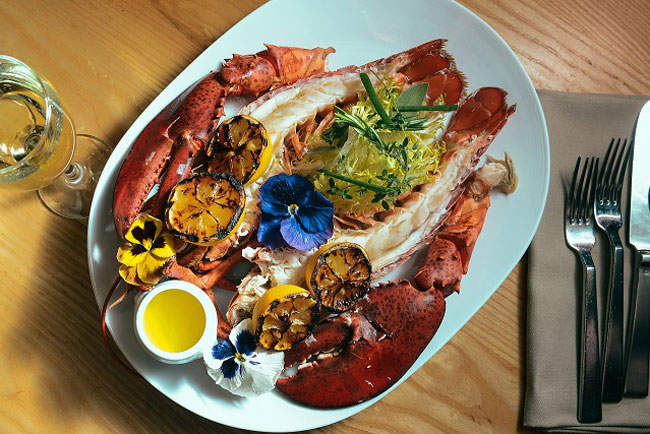 The whole lobster at Bacchanal Buffet, photo courtesy of Caesars Palace