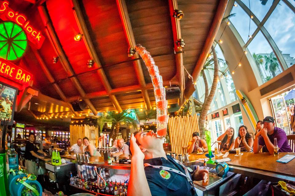 They might not let you try this one, but you can sometimes get in on the mixing game at 5 O'Clock Somewhere Bar. Photo courtesy of Margaritaville.
