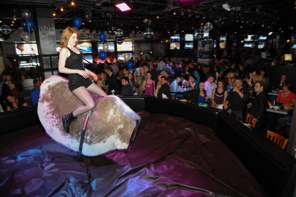 We will not call next on the mechanical bull. We're still bruised from last time. Photo courtesy of Rockhouse.