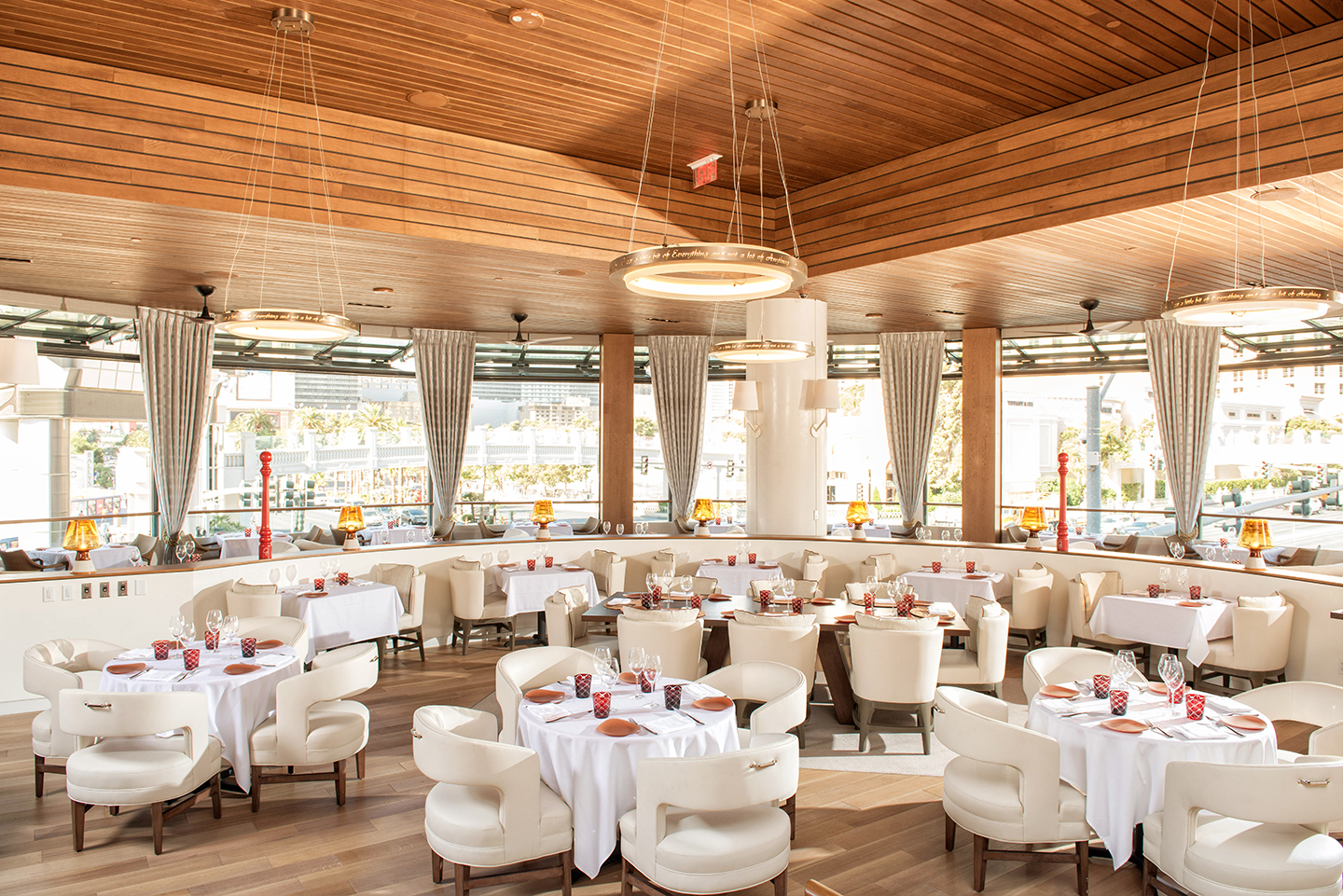 The Giada dining room, photo courtesy of The Cromwell