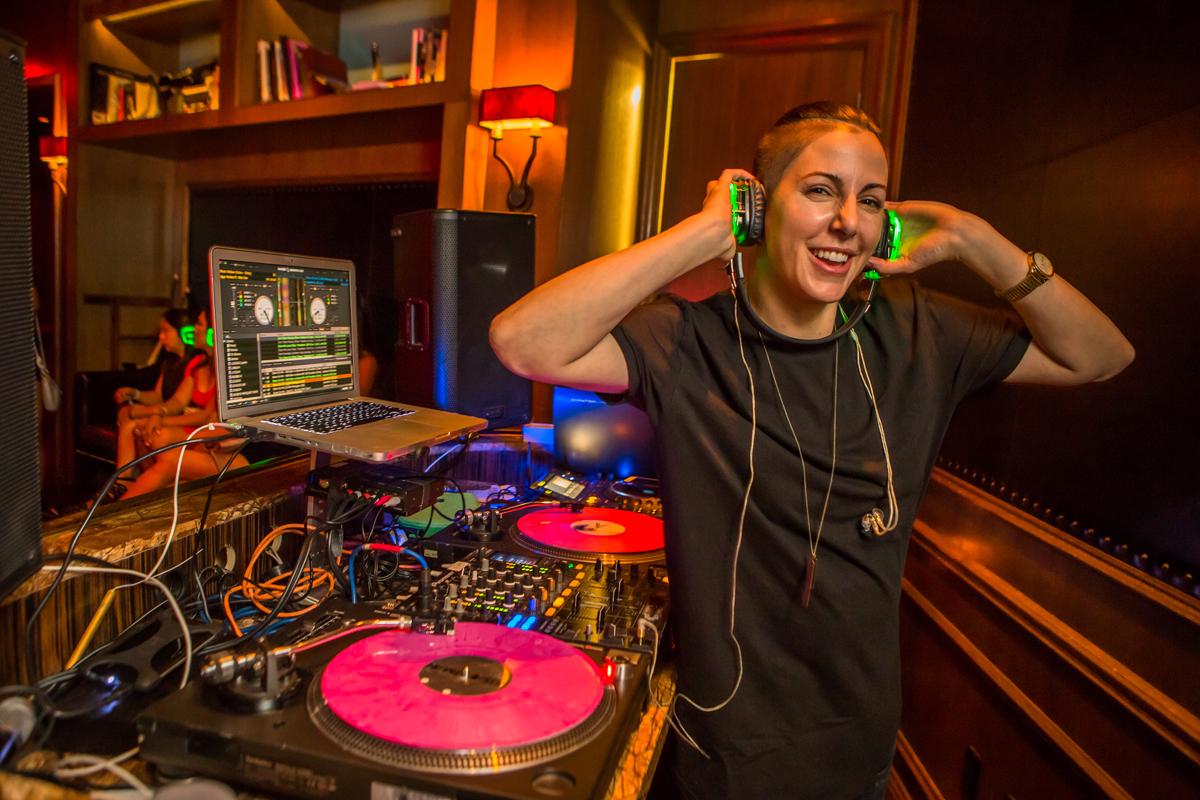 DJ Lisa Pittman at the Library at Marquee. Photo courtesy of Marquee Nightclub.
