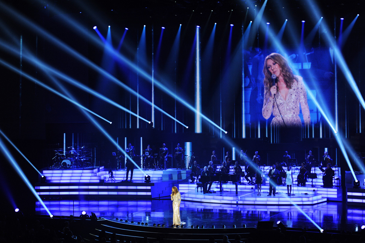 Celine Dion performs during the opening of her new show at The Colosseum at Caesars Palace Thursday, Aug. 27, 2015. CREDIT: Sam Morris/Las Vegas News Bureau