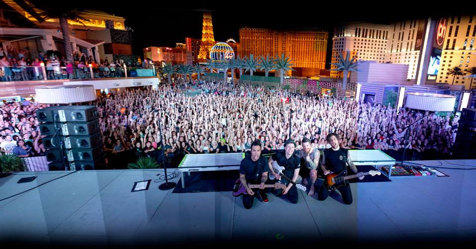 Fall Out Boy in Vegas. Photo courtesy of Jack Edinger and Fall Out Boy.