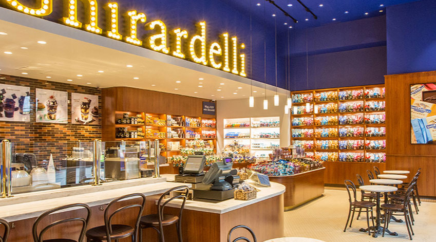 Ghirardelli chocolate shop, photo courtesy of Ghirardelli