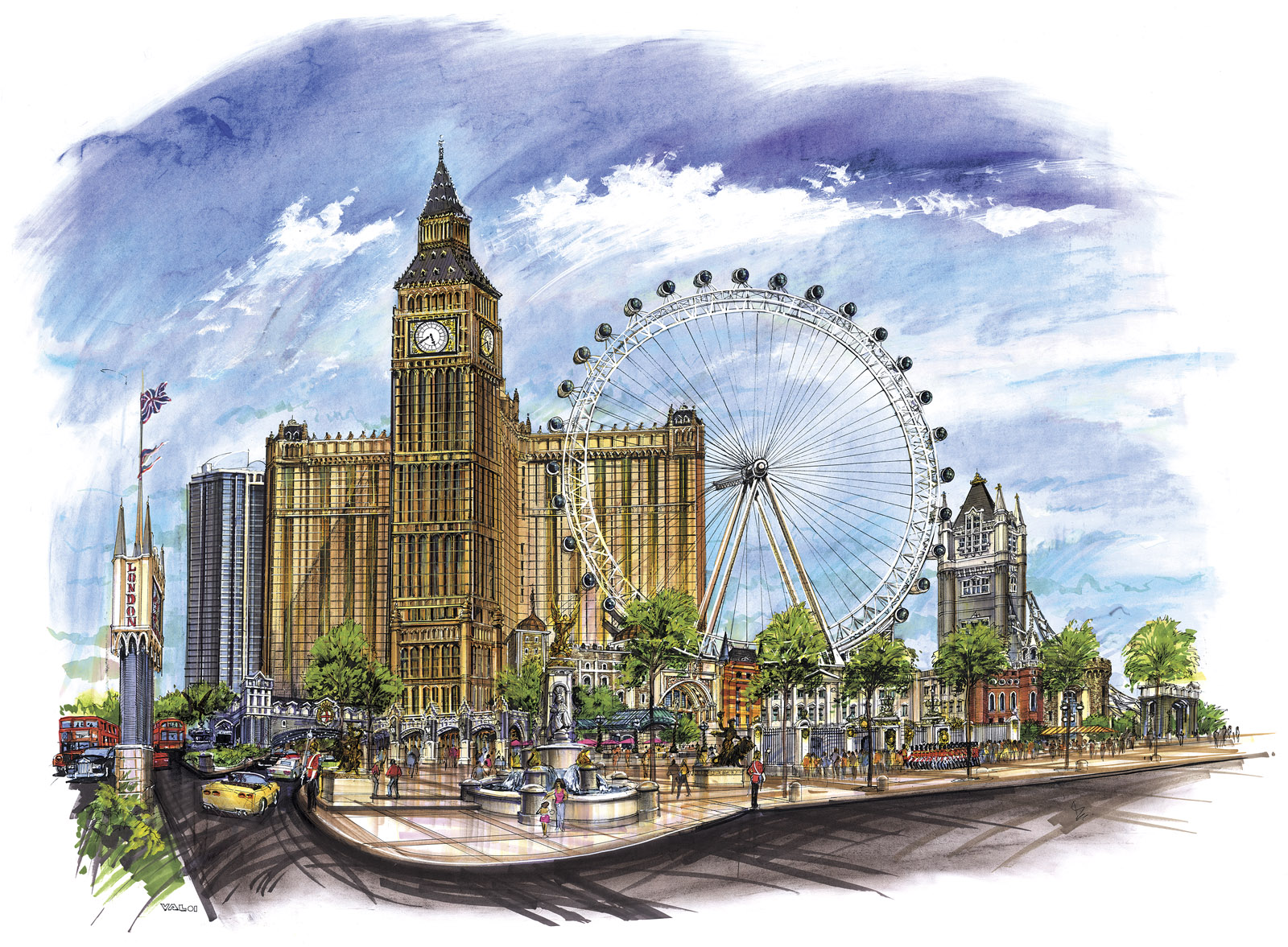 Rendering of London Resort and Casino. Photo courtesy of Las Vegas Sun.