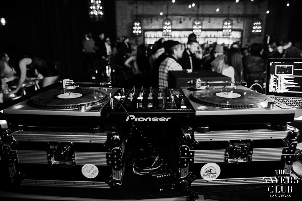 Two turntables and Mike's phone. That's the quote, right? Photo courtesy of Sayers Club.