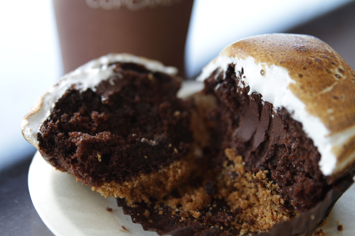 The s'mores cupcake at Sprinkles, photo courtesy of Sprinkles