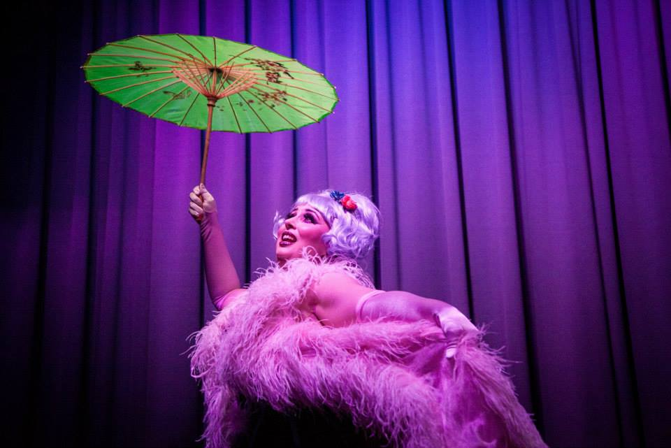 Parasols make great cover ups. Photo courtesy of Stand Up and Tease.