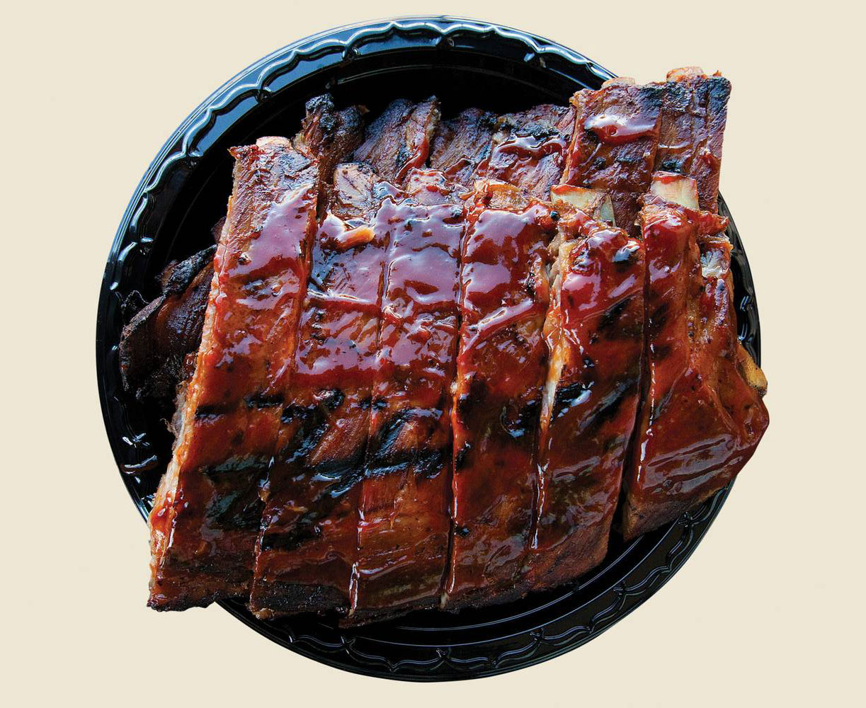 Baby back ribs at TC's Rib Crib, photo courtesy of Las Vegas Weekly