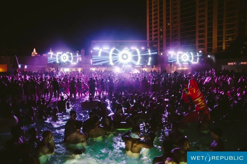 Get in the pool, get out of the pool, stand in the shallow end, lay in the shallow end and pretend to be a walrus, it's all you at Wet at Night. Photo courtesy of Wet Republic.