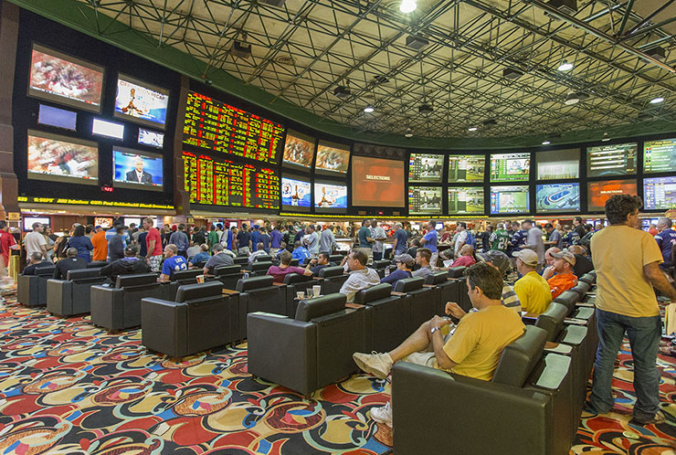 You will feel tiny. But don't worry, the only giants are on the screen. Photo courtesy of Westgate Las Vegas.