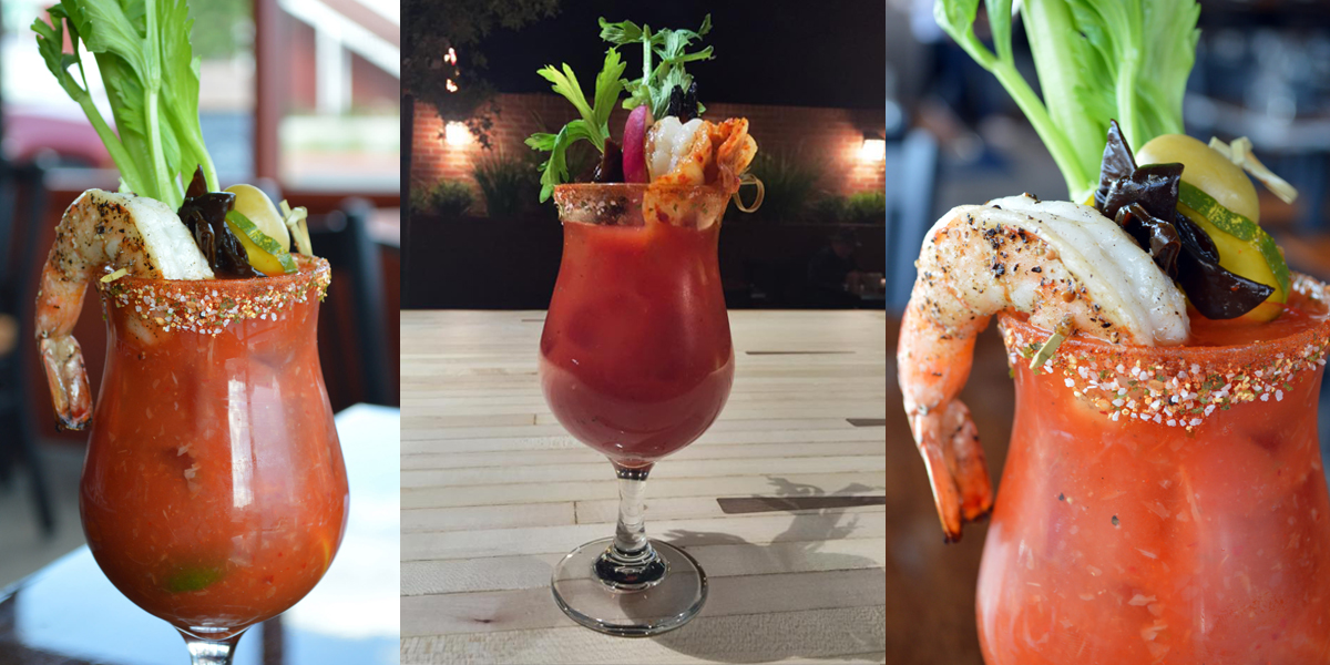 Eat the shrimp then drink the Bloody Mary, or don't listen to us and down it however you want. Photos courtesy of Glutton.