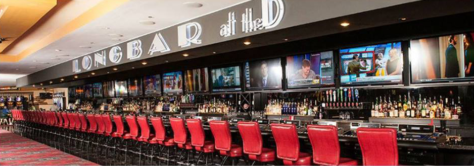 A long bar for a long night of drinking. Photo courtesy of the D Las Vegas.
