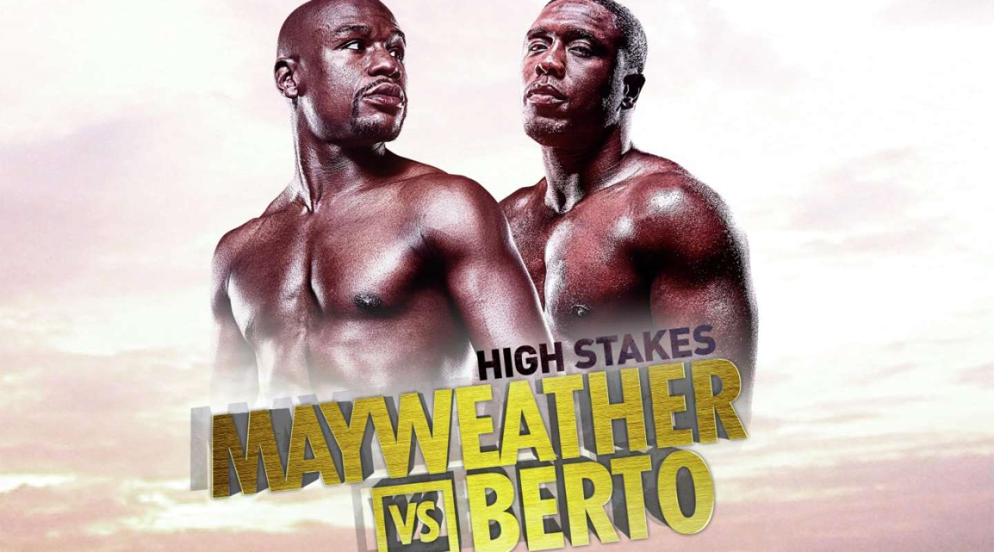 Floyd Mayweather takes on Andre Berto at the MGM Grand. Photo courtesy of MGM Grand