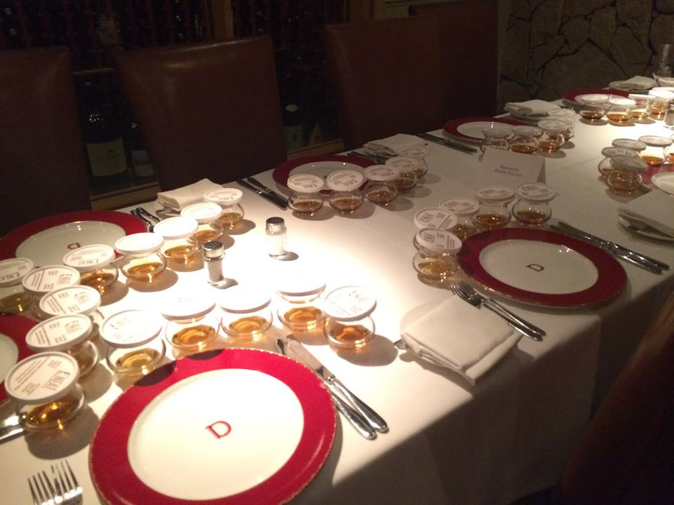 A whiskey dinner at Delmonico's. All dinners should be whiskey dinners. Photo courtesy of Delmonico's Steakhouse.