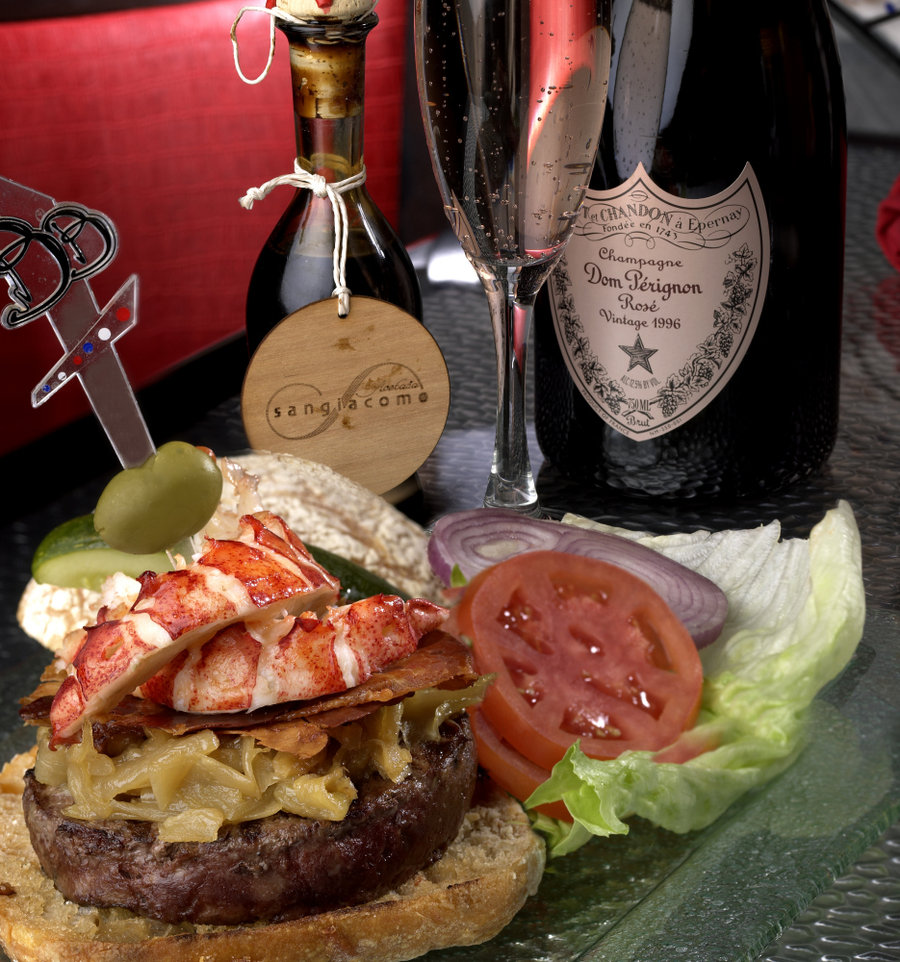 The $777 burger at Burger Brasserie, photo courtesy of Caesars Entertainment