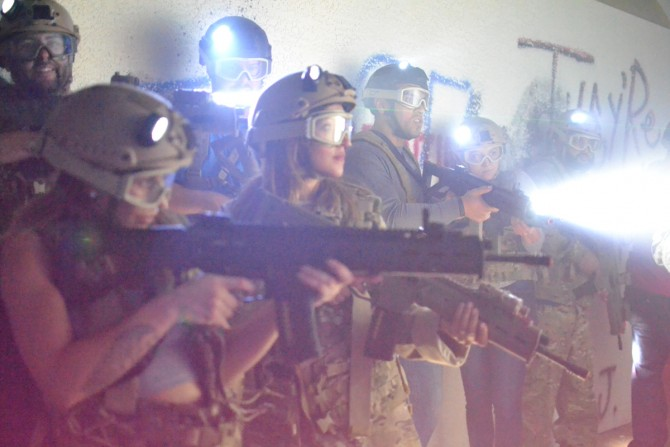 Shooting zombies with Adventure Combat Ops