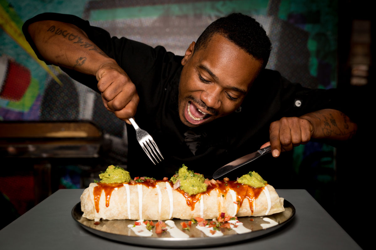The Rock Out With Your Guac Out Burrito, photo courtesy of Rockhouse