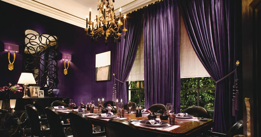 The dining room at Joël Robuchon, photo courtesy of MGM Grand