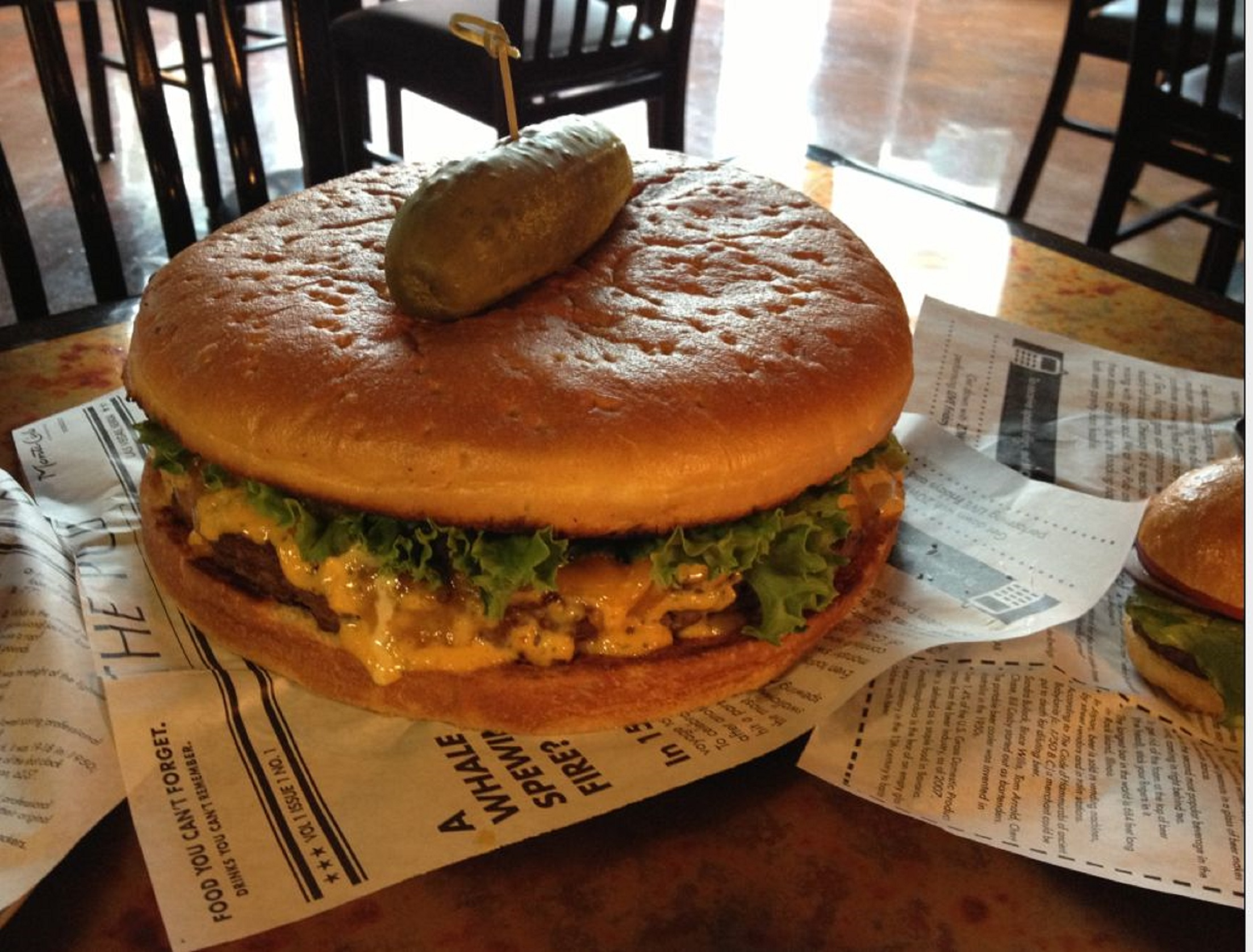 Hope you're hungry. The Pub Burger Challenge, photo courtesy of The Pub at Monte Carlo