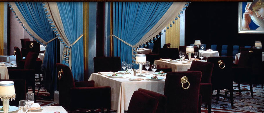 Prime at Bellagio is decorated with Tiffany blue accents, photo courtesy of Bellagio