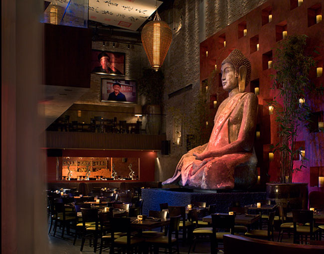 A giant Buddha overlooks Tao restaurant. Photo courtesy of The Venetian