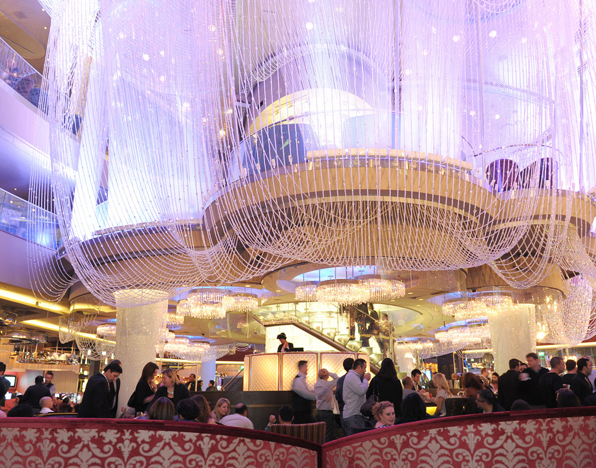 Imagine drinking a cocktail here. We do it all the time. Jealous? Photo courtesy of the Cosmopolitan of Las Vegas.