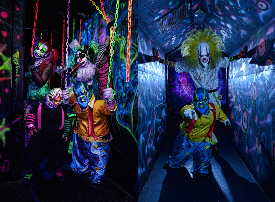 Because no one is afraid of clowns, right? That's just silly. Photo courtesy of Fright Dome.