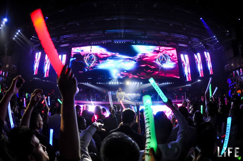Gareth Emery at LiFE. Not Halloween, but many of the same elements. Photo courtesy of LiFE Nightclub.