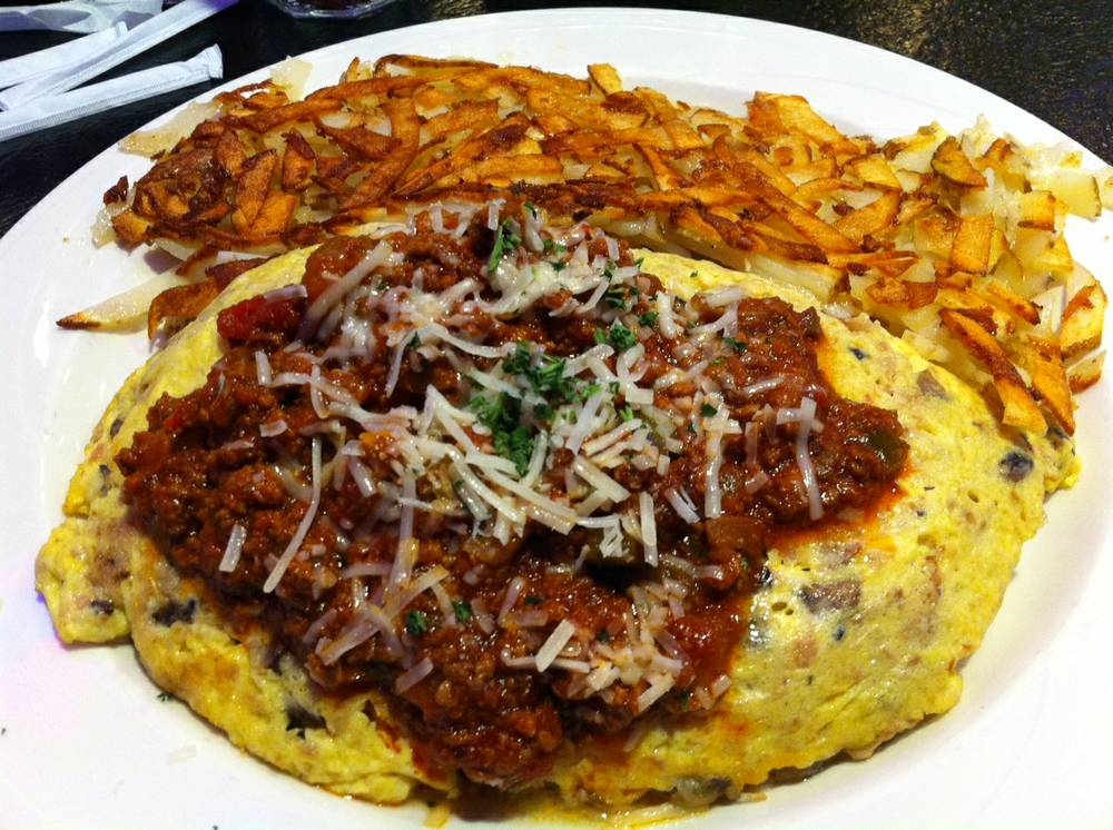 The Maserati omelet at Peppermill. Photo courtesy of Las Vegas Weekly