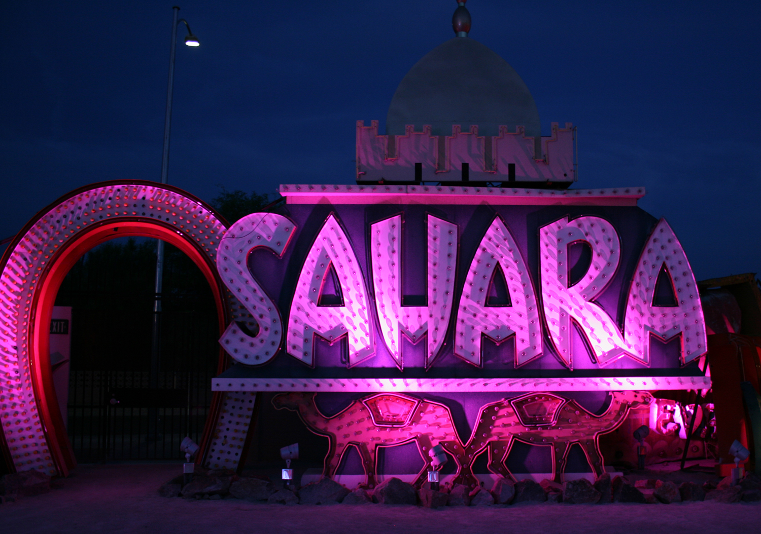 What better backdrop for a night of partying? Photo courtesy of Neon Museum.