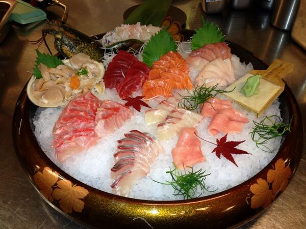 Sashimi platter, photo courtesy of Yellowtail
