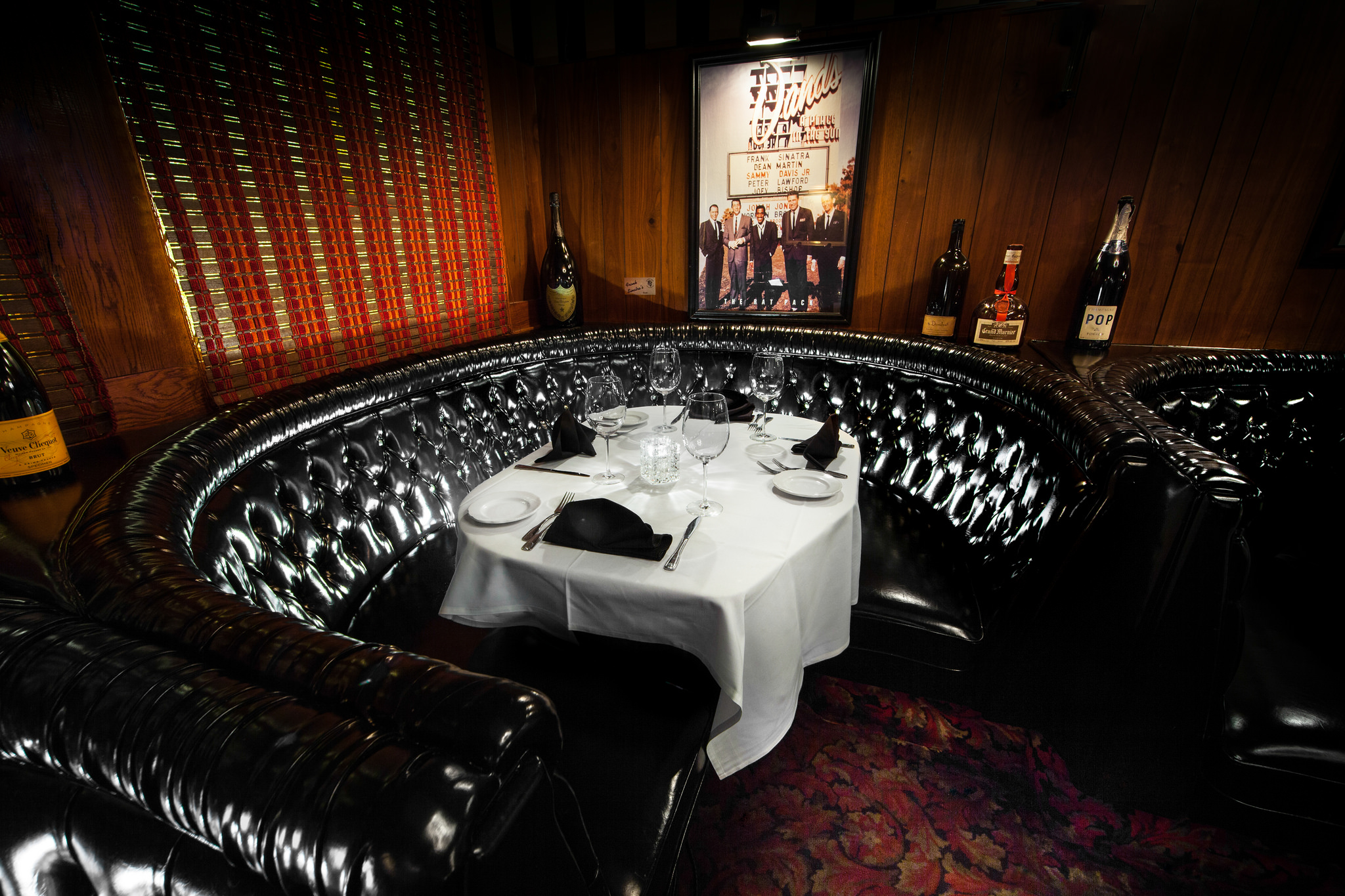 Frank Sinatra's booth, Number 22, at The Golden Steer. Phot courtesy of Chris Wessling
