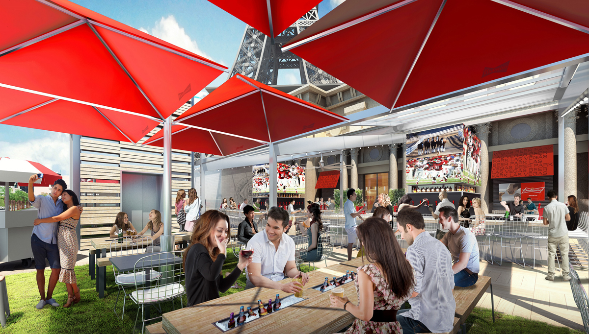 It's always fun to try to figure out what models are thinking in renderings. Check out those two at the bar. Lolz. Photo courtesy of Beer Park.